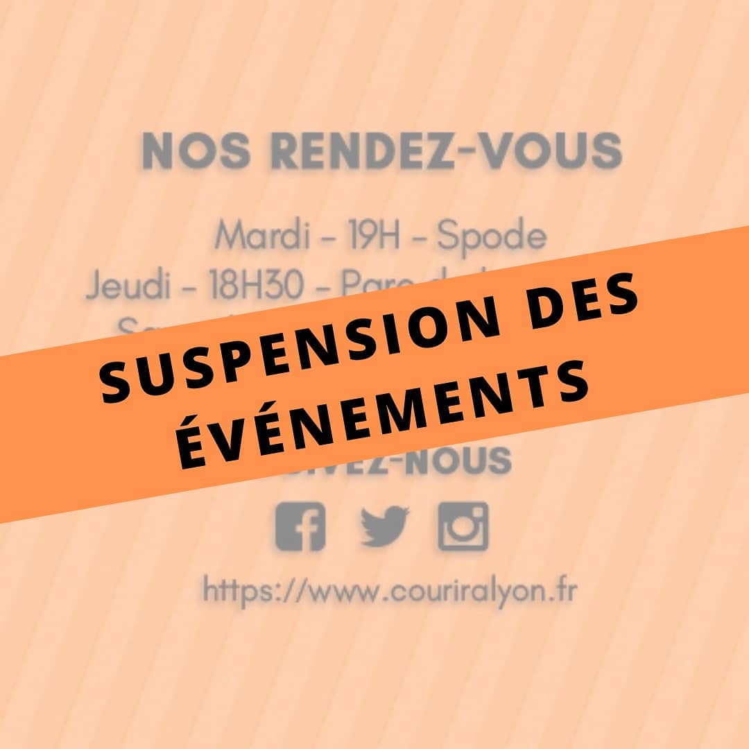 Suspension des évenements